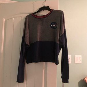 Sweaters - cropped NASA crewneck
